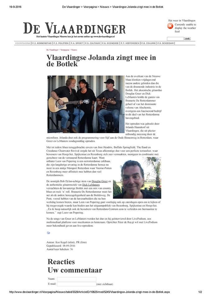 INTERVIEW VLAARDINGER